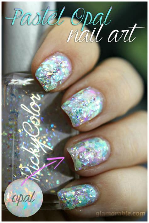opal nail using rickycolor pastel opal nail polishes