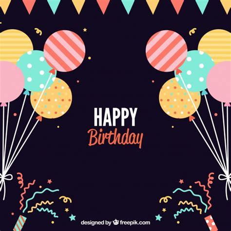 imagenes de happy birthday originales fondo de cumplea 241 os plano con balones decorativos