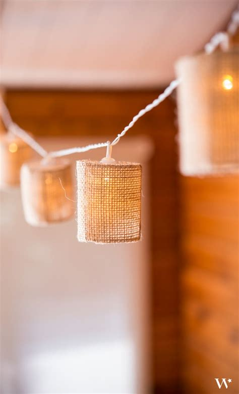 burlap lantern string lights string of lights with burlap shades battery led places minis and wedding