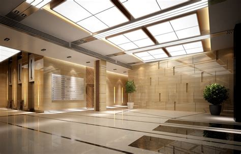 hotel lobby ceiling lights and wall creative ideas 3d