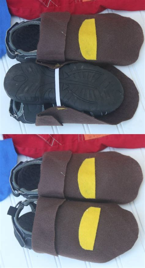 diy shoe covers diy no sew jake and the never land cubby costume