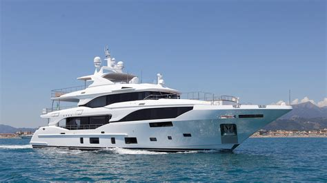 yacht hits boat first benetti mediterraneo 116 superyacht hits the water