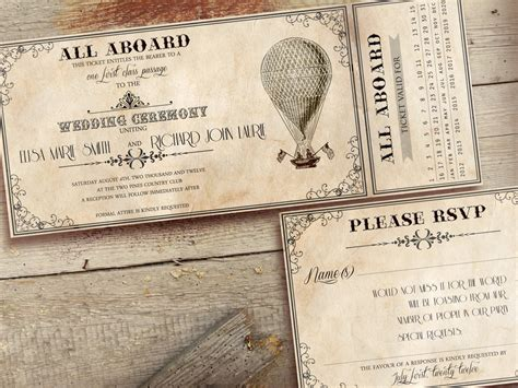printable retro invitations printable vintage wedding invitations ticket by