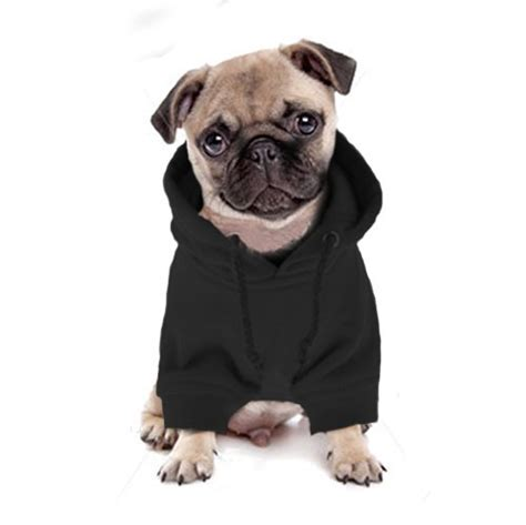 Black Skull Pet Hoodie Clothing Coat Small Puppy Cat Sweater Shirt pug hoodies for dogs photo 1 dress the clothes