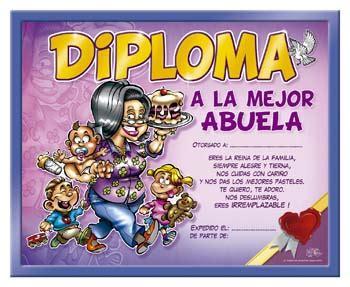 certificado a la mejor abuela del mundo para imprimir gratis picture diploma a la mejor abuela gankel tu tienda de regalos
