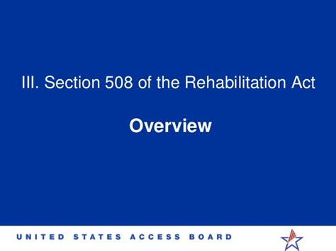 What Is Section 508 Of The Rehabilitation Act by Section 508 Of The Rehabilitation Act 28 Images Social