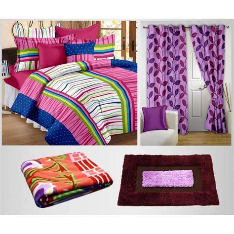 blanket door curtain buy combo of 100 cotton double bedsheet blanket curtain