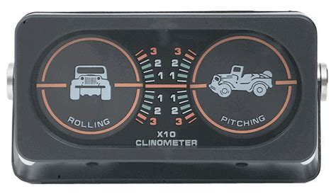 Jeep Inclinometer All Things Jeep Jeep Clinometer With 2 Gauges Jeep Graphic