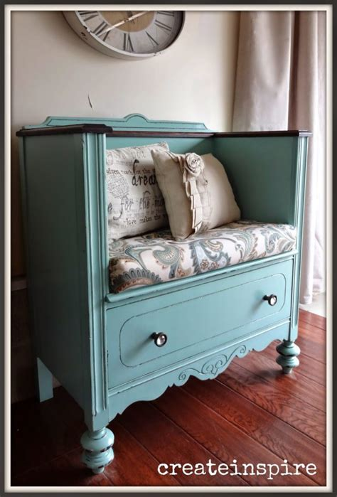 dresser turned into a bench restored furniture that will have you running for the flea