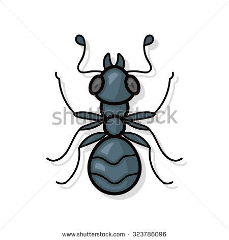 doodle up bug vector illustration cat scratching wall stock