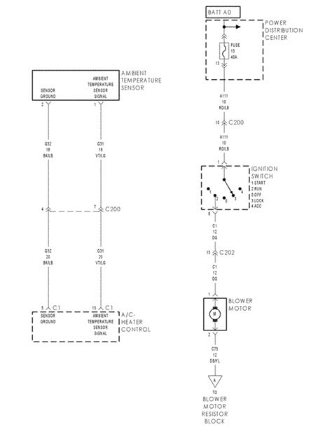 93 dodge dakota heater fan wiring diagram get free image