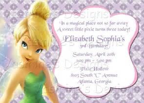 printable tinkerbell invitation custom birthday