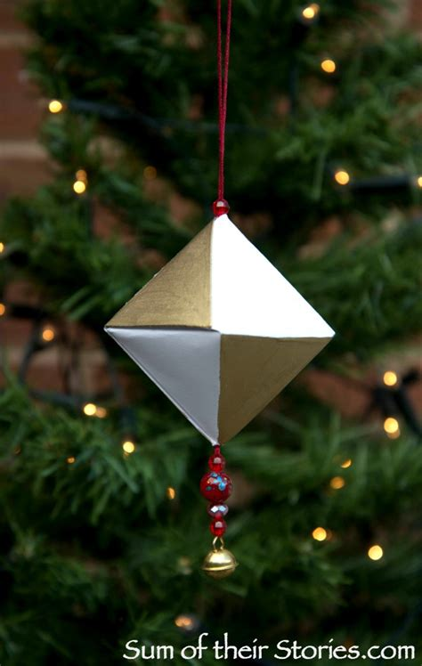 Origami Tree Ornaments - origami tree ornament sum of their stories