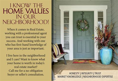neighborhood marketing postcards home values