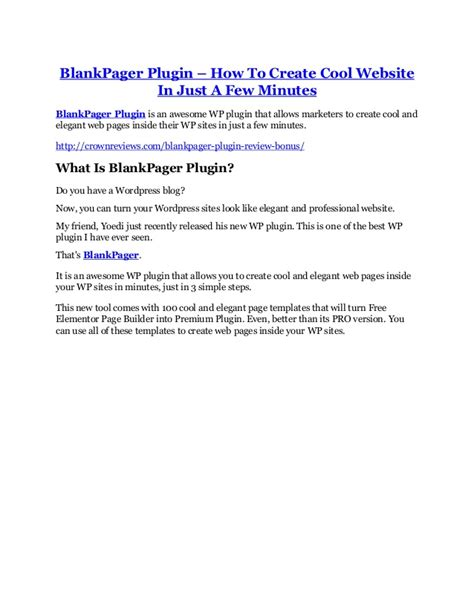 Blankpager Blank Pager Plugin Wp Theme 1 blankpager plugin review a top notch weapon