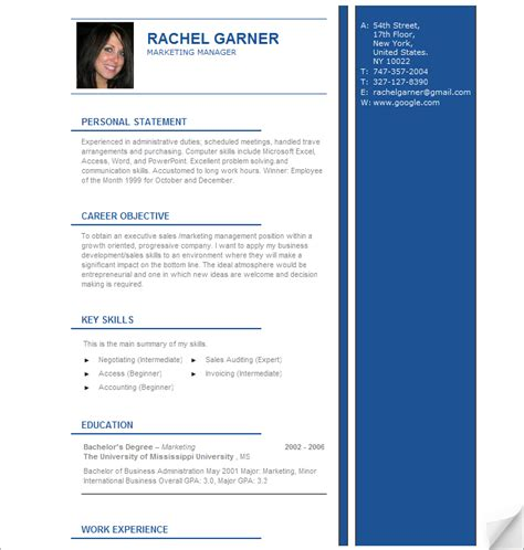 professional resume template http webdesign14