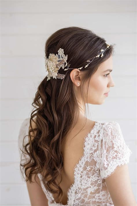 hair wedding hypericum wedding hair vine millesime