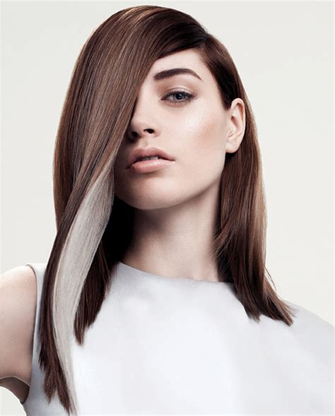 streaking grey hair with brown hair colour trends for fall winter 2014