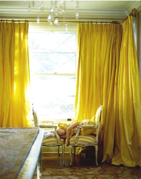 Bright Yellow Curtains 20 Chic Interior Designs With Yellow Curtains