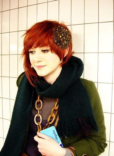 edgy red hairstyles beautiful girl red hair dyed edgy style cute romantic