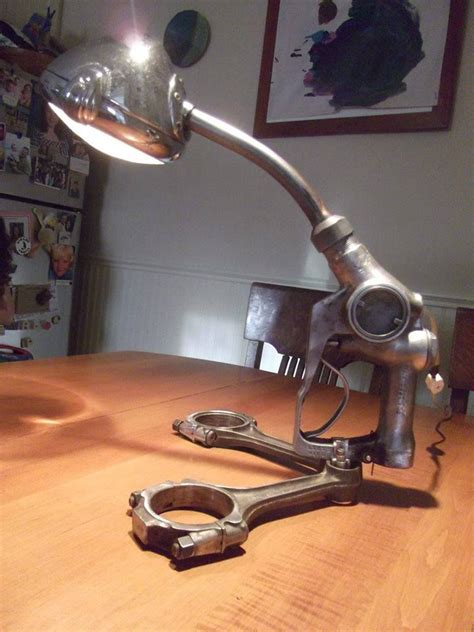 desk lamp    automotive spotlight  vintage gas