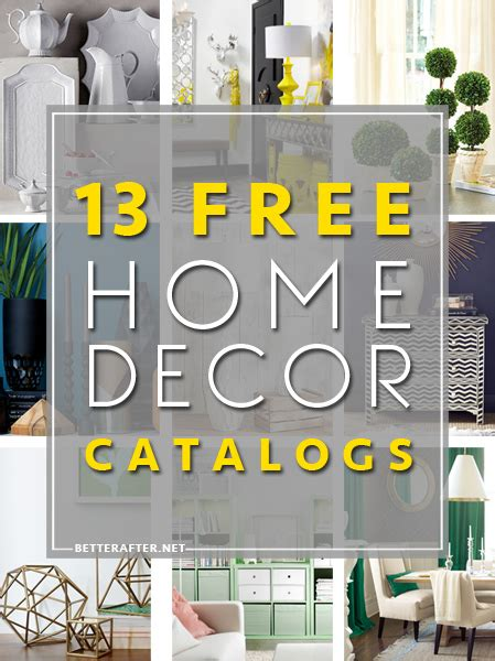 mail order home decor catalogs free home decor catalogs better after