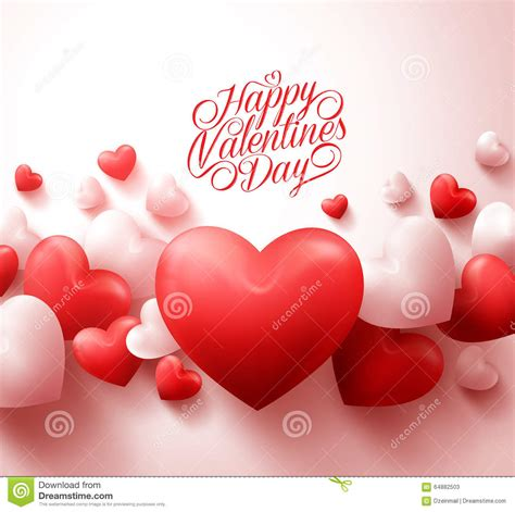 imagenes de happy birthday wife happy valentines day background with 3d realistic red