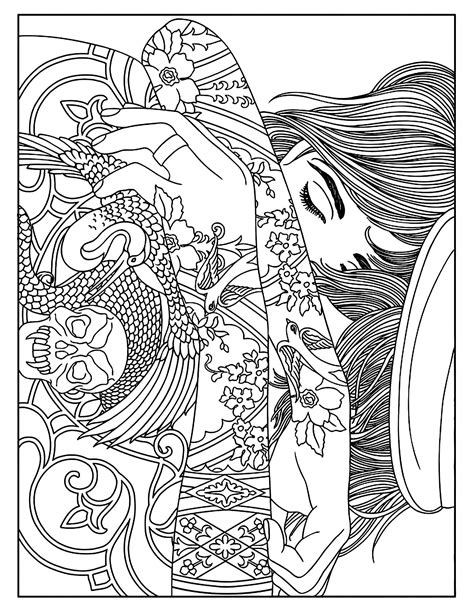tattoo pictures color woman tattoos tattoos adult coloring pages