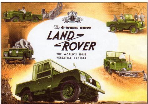 vintage land rover ad notebooks