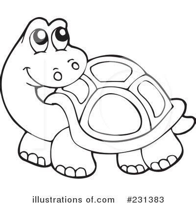 turtle clipart black and white #51773