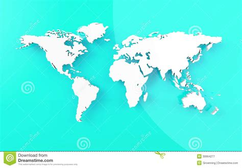 beautify worldwide mooie wereldkaart op blauwe achtergrond stock illustratie
