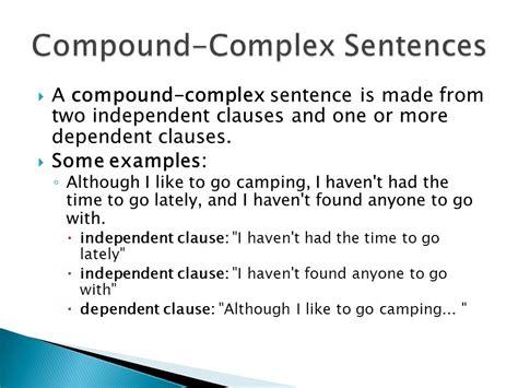 exle of compound sentence compound and complex sentences toreto co