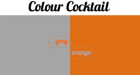 colour cocktail grey  orange bright bazaar   taylor
