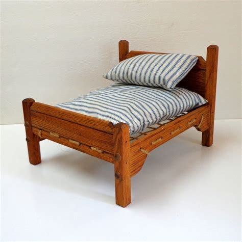 Rope Bed Mattress by Rope Doll Bed With Mattress Pillow Wooden Mattress