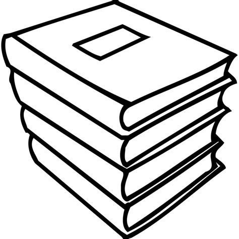 coloring pages for stack of school books coloring point