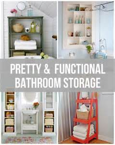 Creative Upcycling Ideas - pretty amp functional bathroom storage ideas the inspired room