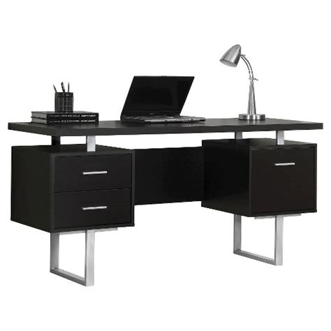 Modern Computer Desk Black Everyroom Target Black Modern Desk