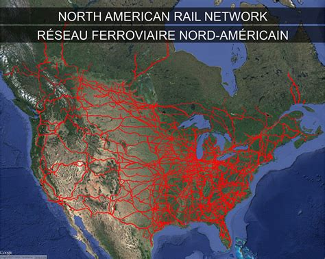 american rail network map railway investigation report r13d0054 transportation