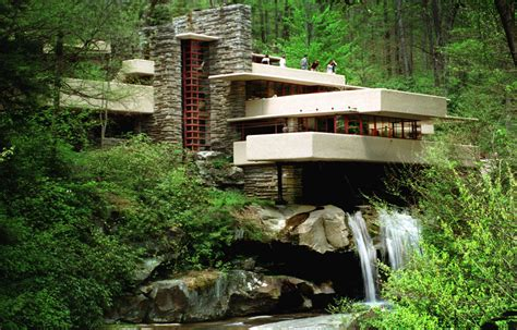 waterfall house famous american house sits on top of a waterfall