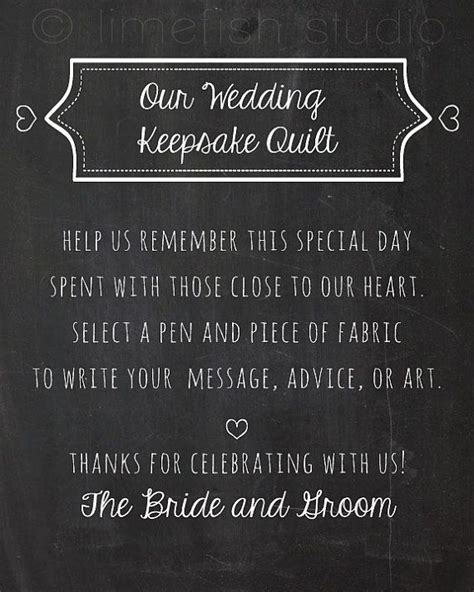 Wedding Quilt Sign by Instant Wedding Quilt Sign Chalkboard Style