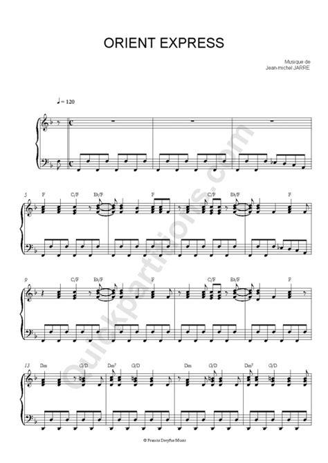 cgv orient express partition piano orient express jean michel jarre