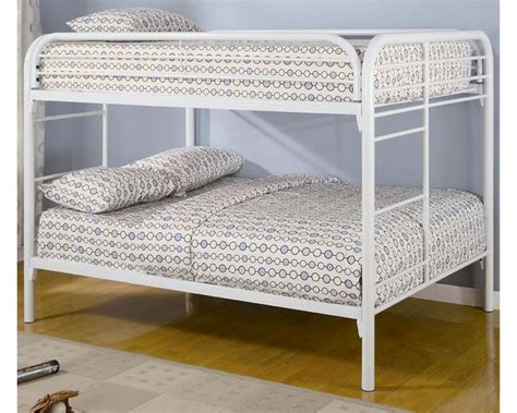 coaster bunk beds coaster furniture full over full bunk bed in white fordham