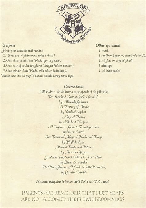 printable hogwarts acceptance letter best business template