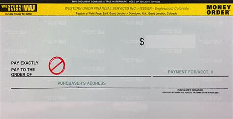 Money Order Template by How To Fill Out A Money Order Western Union