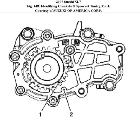 2008 Suzuki Xl7 Timing Chain Timing Arrangement Camshaft And Cranshaft For Xl7