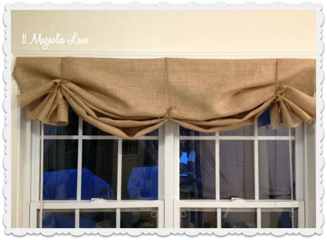 tie up curtain tutorial tutorial how to make a no sew diy burlap window valance