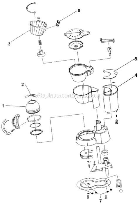 mr coffee parts diagram mr coffee sp4 parts list and diagram ereplacementparts