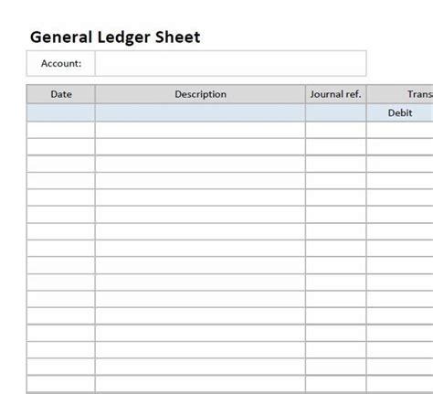 general ledger format best resumes