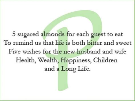 meaning of almonds at a wedding meaning of almonds wedding inspiration
