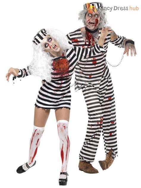 horror themed clothing uk mens ladies zombie convict couples costume duo halloween